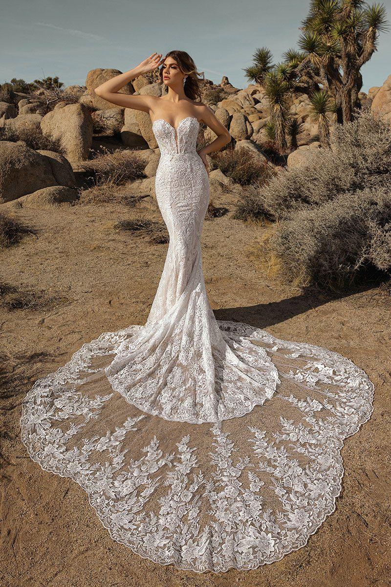 Glenda Lace Mermaid Wedding Dress Wedding Gowns Mermaid Pregnant Wedding Dress [ jpg ]