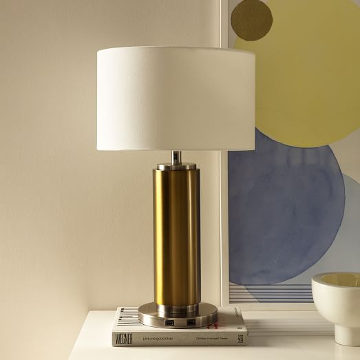 Perfect For The Techie Who Wants Usb Ports In The Lamp Base This