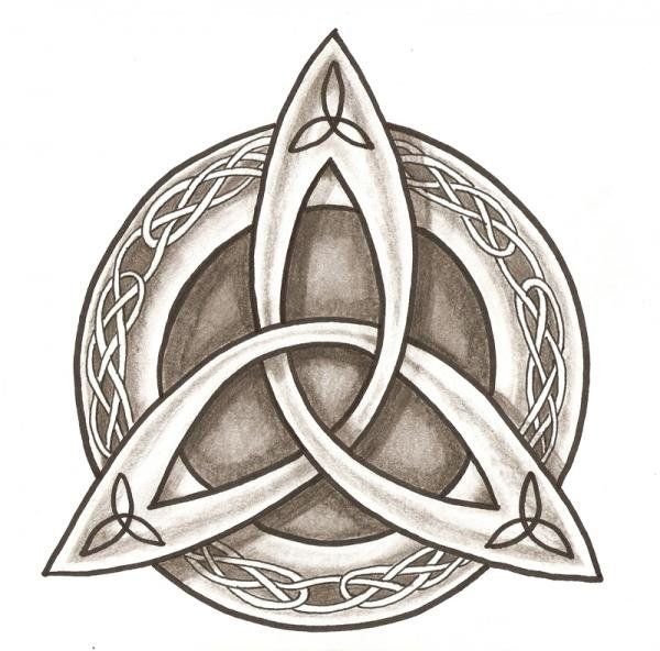 Celtic Coloring Page Celtic Symbols Triquetra Coloring Pages