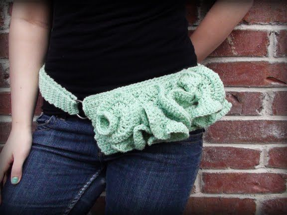 fanny pack crochet pattern | And here is an ear warmer made with ...