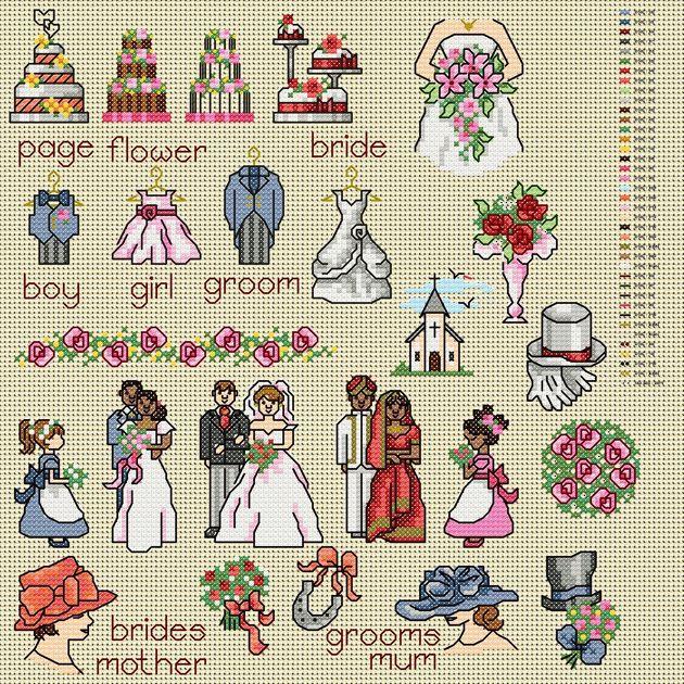 image detail for maria diaz designs wedding ii cross stitch chart