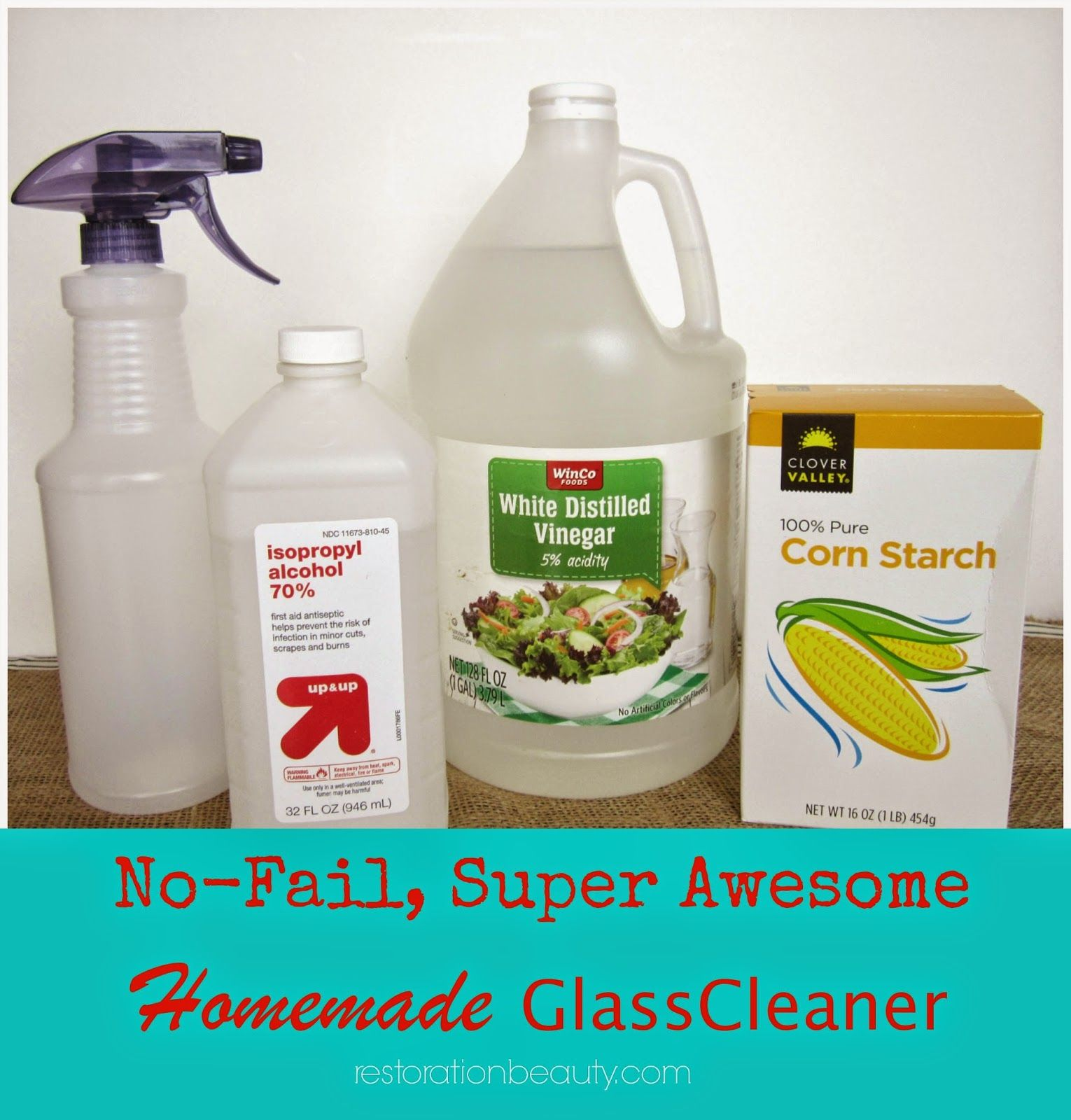 Restoration Beauty No Fail Super Awesome Homemade Gl Cleaner For Windowirrors The Best You Ll Ever Try