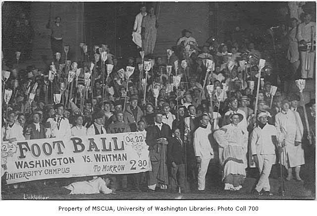 Rally for Washington vs. Whitman.  1911.