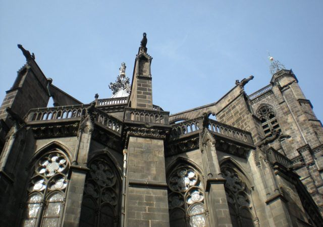 Bishop Hugues de la Tour was inspired by the construction of the Sainte Chapelle in Paris. Photo Credit