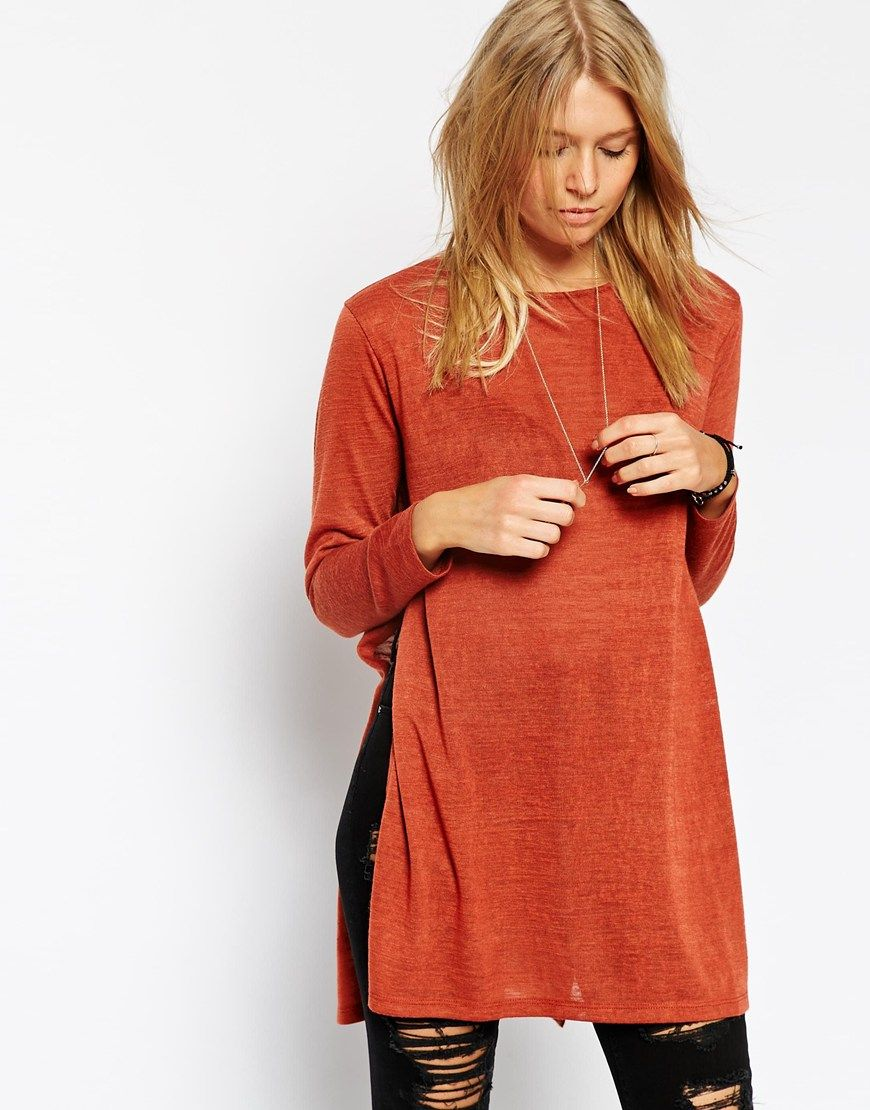 ASOS Tunic with Split Side in Cut and Sew | Fashion | Pinterest ...