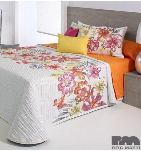 couvre lit tiss jacquard fleuri orange fleurs couvre lit tissu jacquard et lit. Black Bedroom Furniture Sets. Home Design Ideas