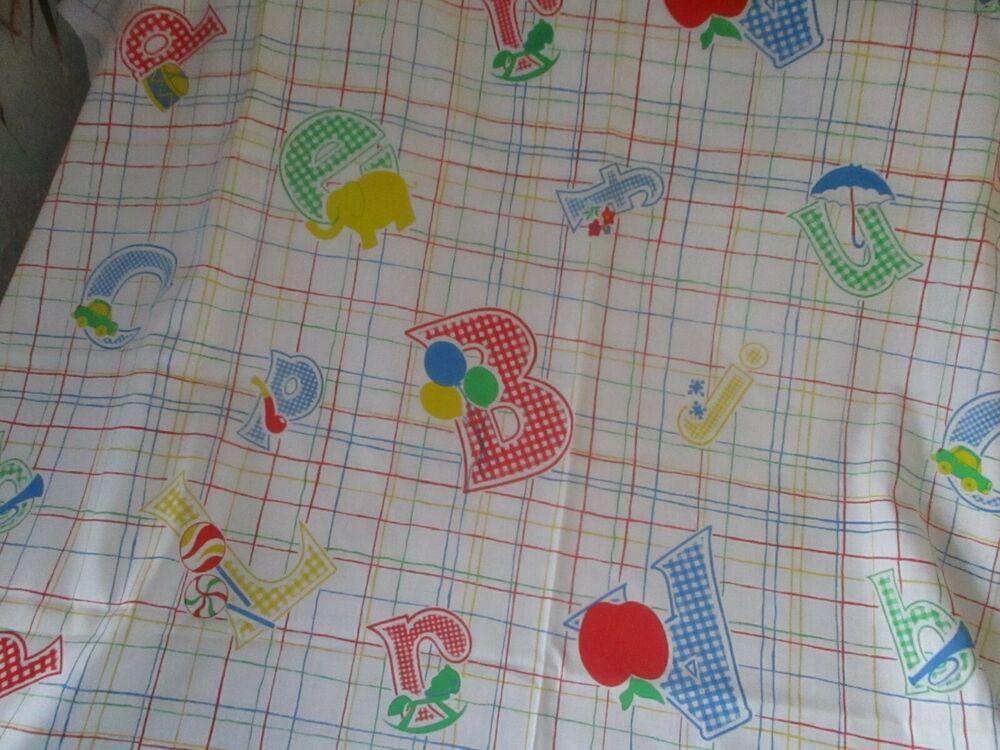 Vtg Juvenile Nursery Novelty Print Fabric Animals Abc S Gingham Print 44 X 1 5 Y Springs In 2020 Printing On Fabric Fabric Animals Peter Rabbit Fabric