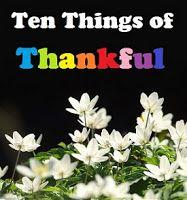 Ten Things of Thankful - Week 2