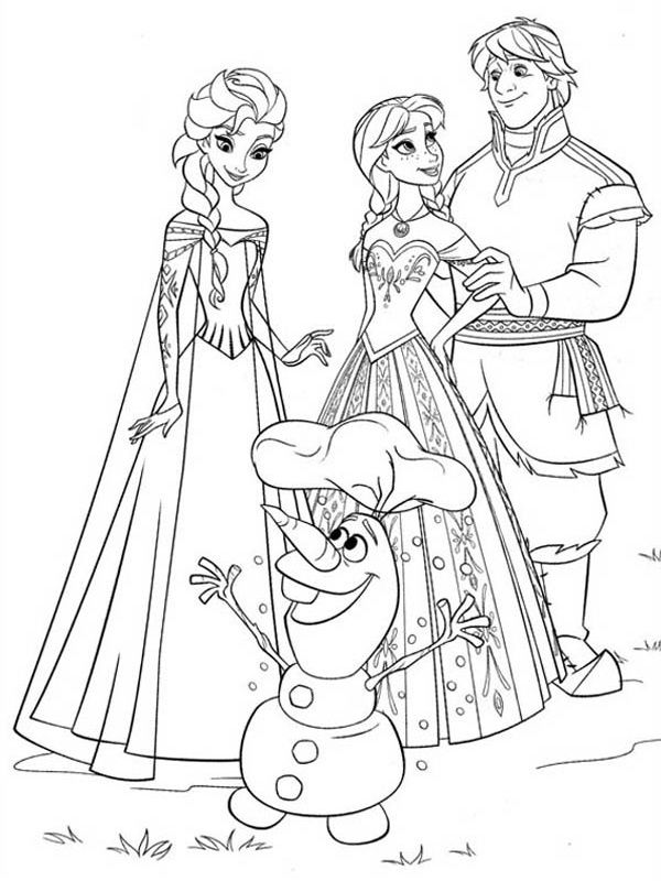 Anna, Elsa, Olaf, Kristoff omalovánka | Drawing, colouring, painting ...