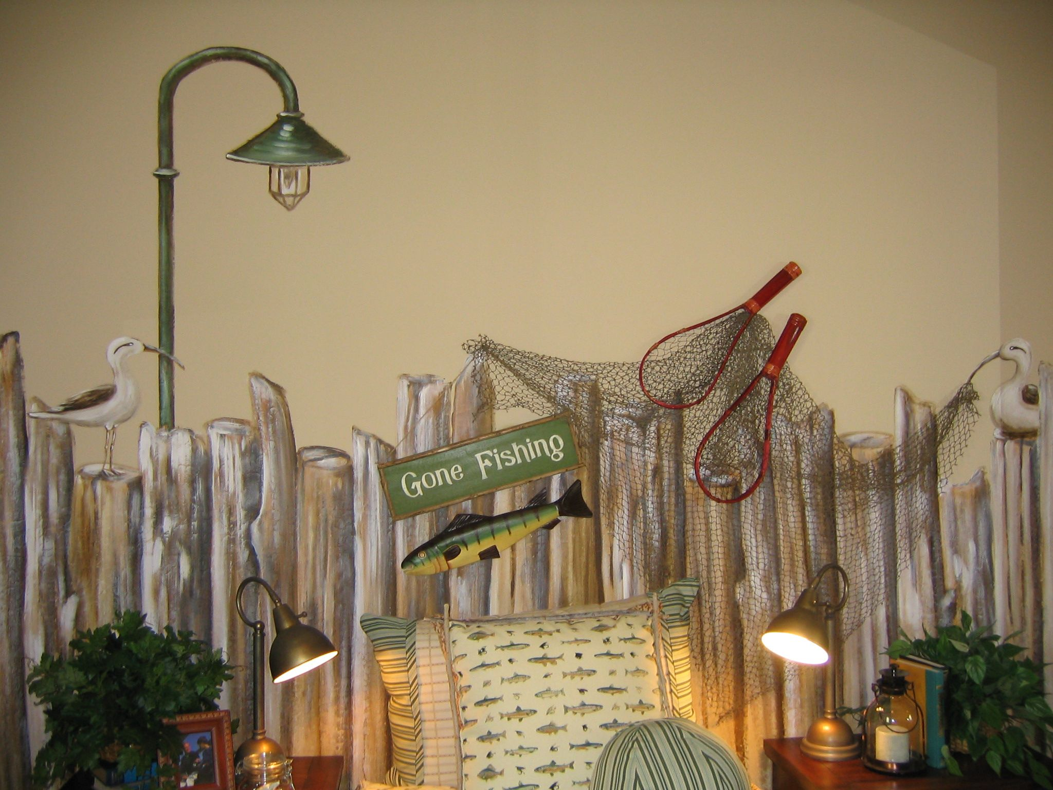 fishing themed room copyright 2011 art couture all rights reserved