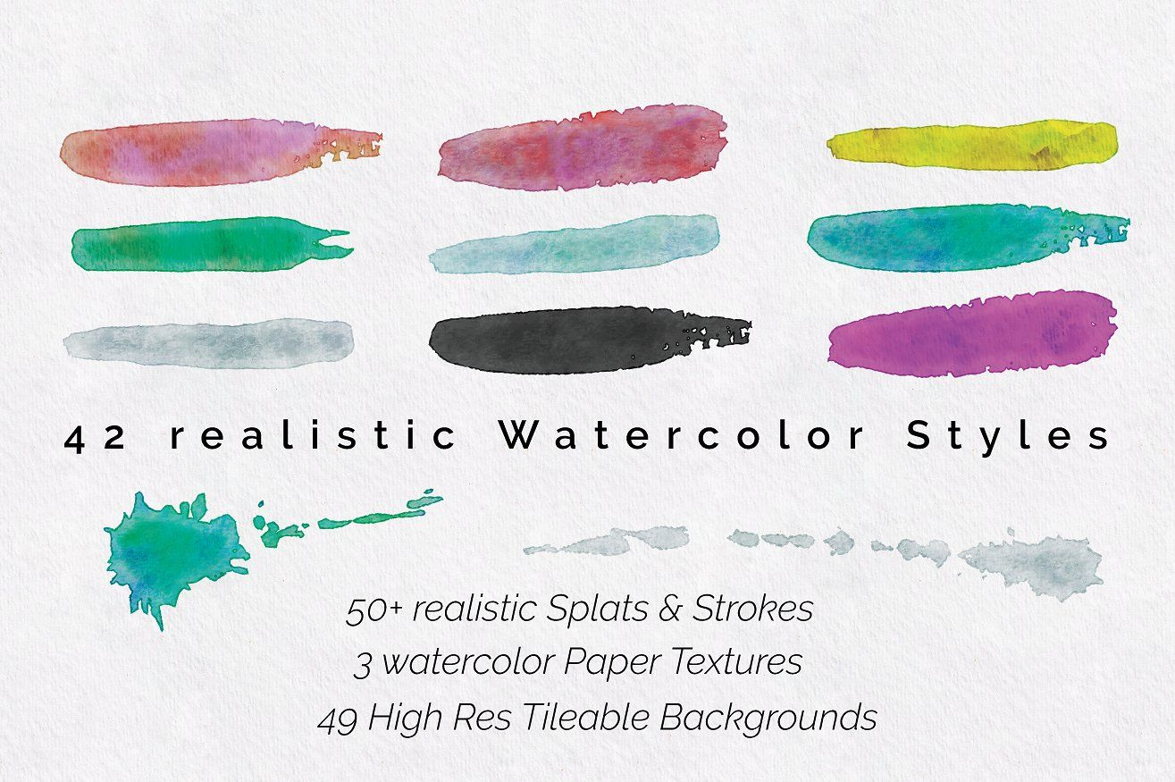 Watercolor Pro Effects Ai Cs5 Resolutions Scans Real Illustrator