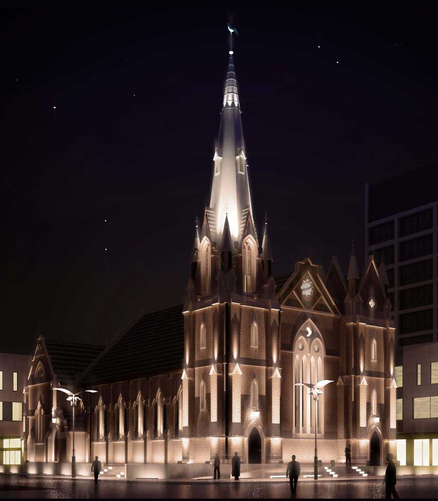 examples of lighting for churches