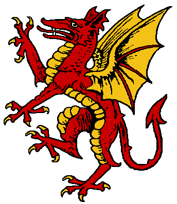 This Image Of A Dragon Is Commonly Used In Coats Of Arms And