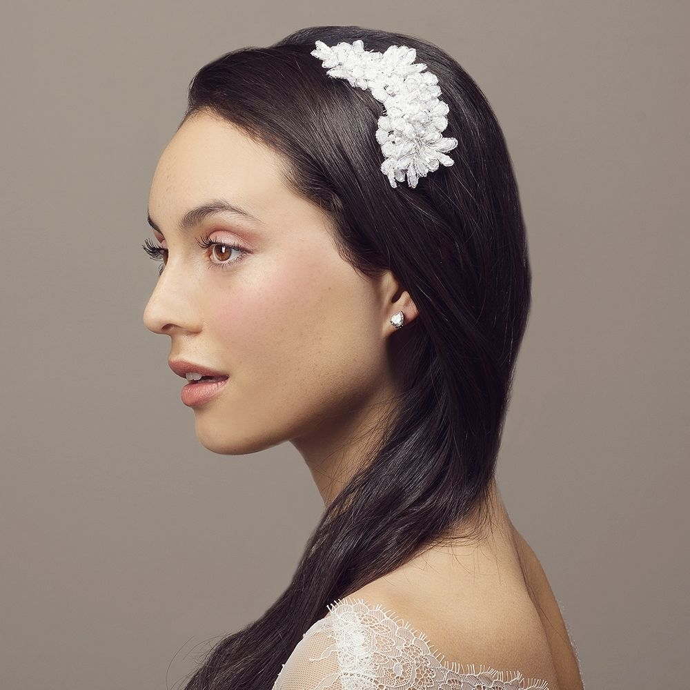 chloe beaded lace bridal hair comb. buy now at: www