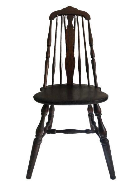 Antique HALE Splat Tapered 8 Brace Back Windsor Chair ...