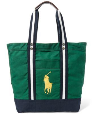 42d9017de4ae POLO RALPH LAUREN Polo Ralph Lauren Men S Big Pony Canvas Tote Bag.   poloralphlauren  bags  hand bags  canvas  tote  cotton