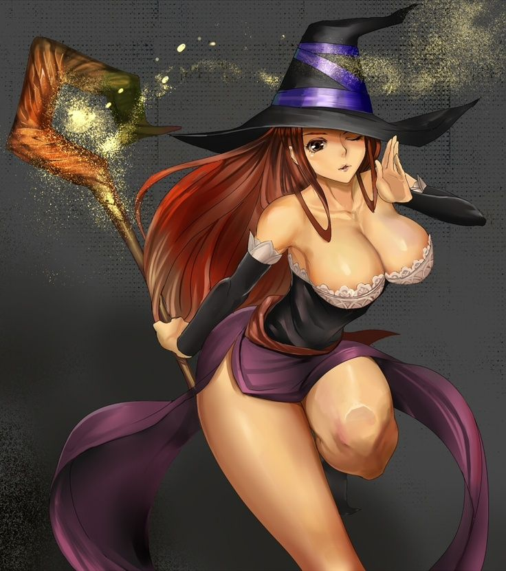 Busty anime witch