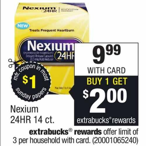 1 00 Off Any Nexium 24hr Product Printable Coupon Plus Cvs Matchup Cvs Couponing Printable Coupons Coupons
