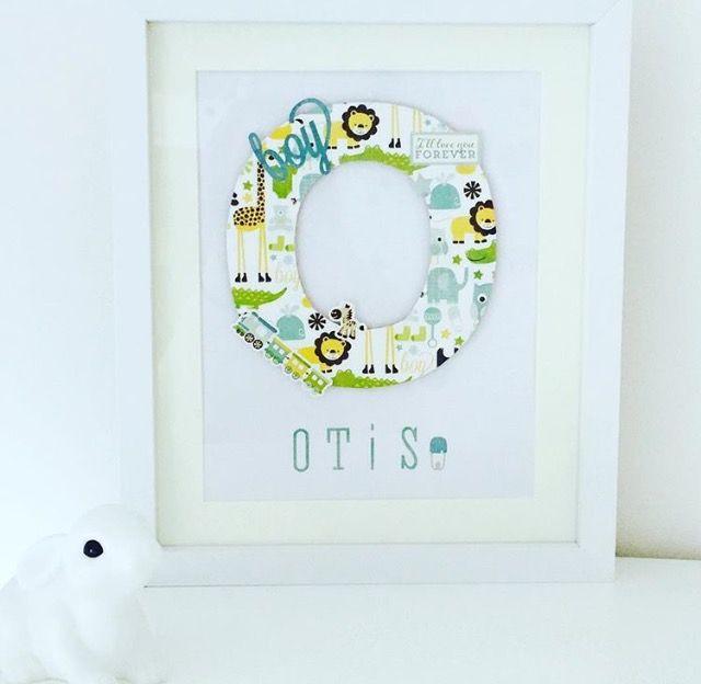 Personalised wooden letter Name Frame | Nursery Wall Art | Pinterest