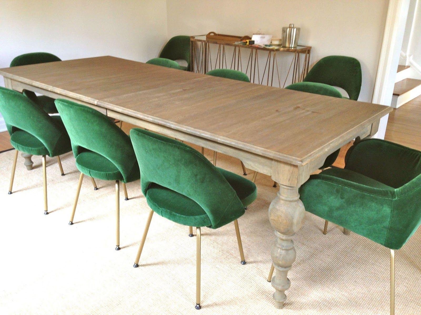 Sneak Peek Green Velvet Saarinen Dining Chairs Velvet Dining