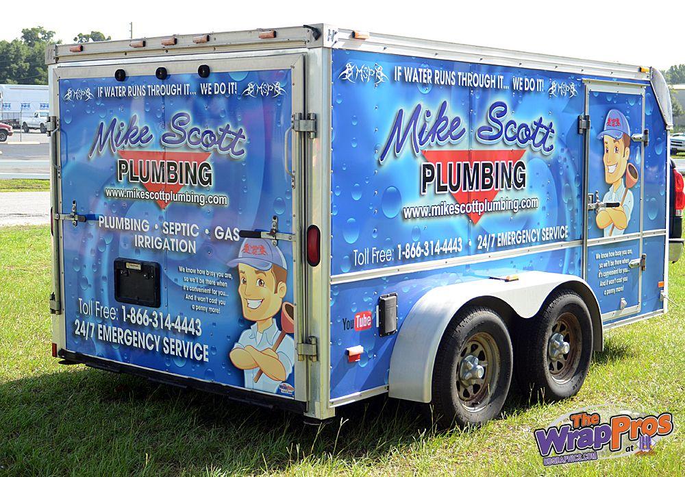 Mike Scott Plumbing Trailer 3m Certified Vehicle Wraps Ocala Florida
