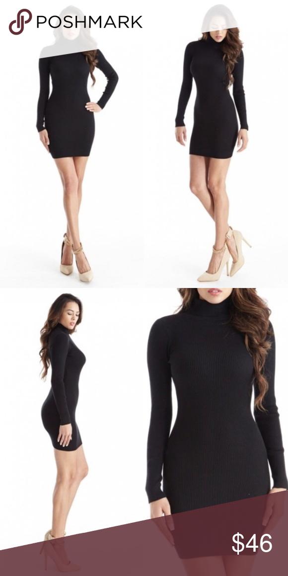 b491196b40b Black Knit Turtleneck Sweater Mini Dress New with tags. Adorable ribbed  turtleneck long sleeve mini sweater bodycon dress. ❌SORRY