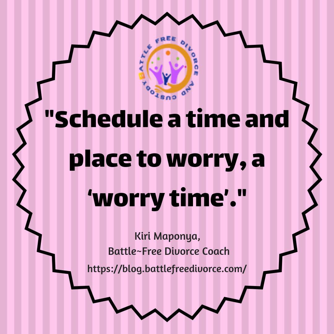 """Schedule a """"""""worry time""""""""... https//blog"""