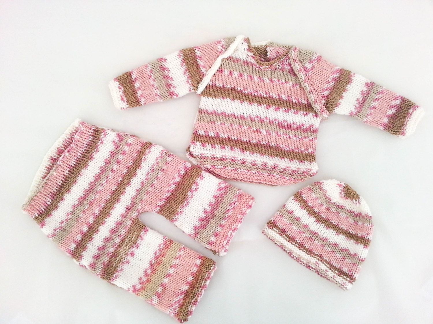 KNITTING PATTERN, Modern Layette, Baby Clothes, Set of 3, Sweater ...