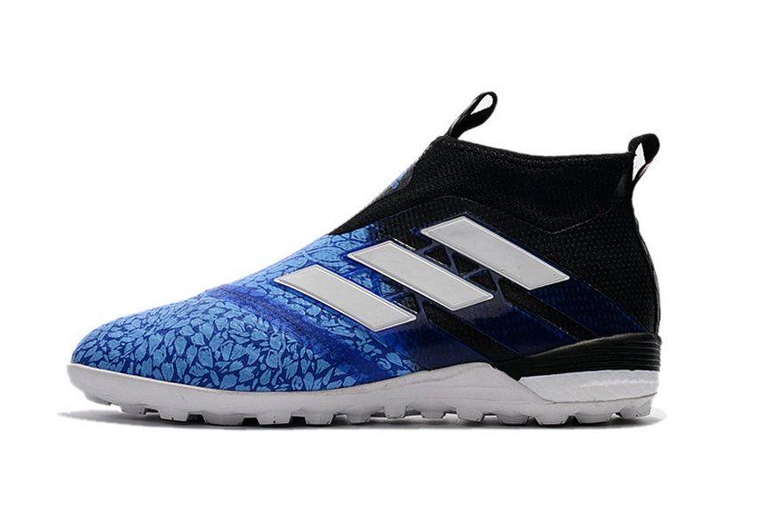 Adidas Ace Tango 17+ Purecontrol TF Acid Blue Black White Size 9.5 Sneaker efa447e8e
