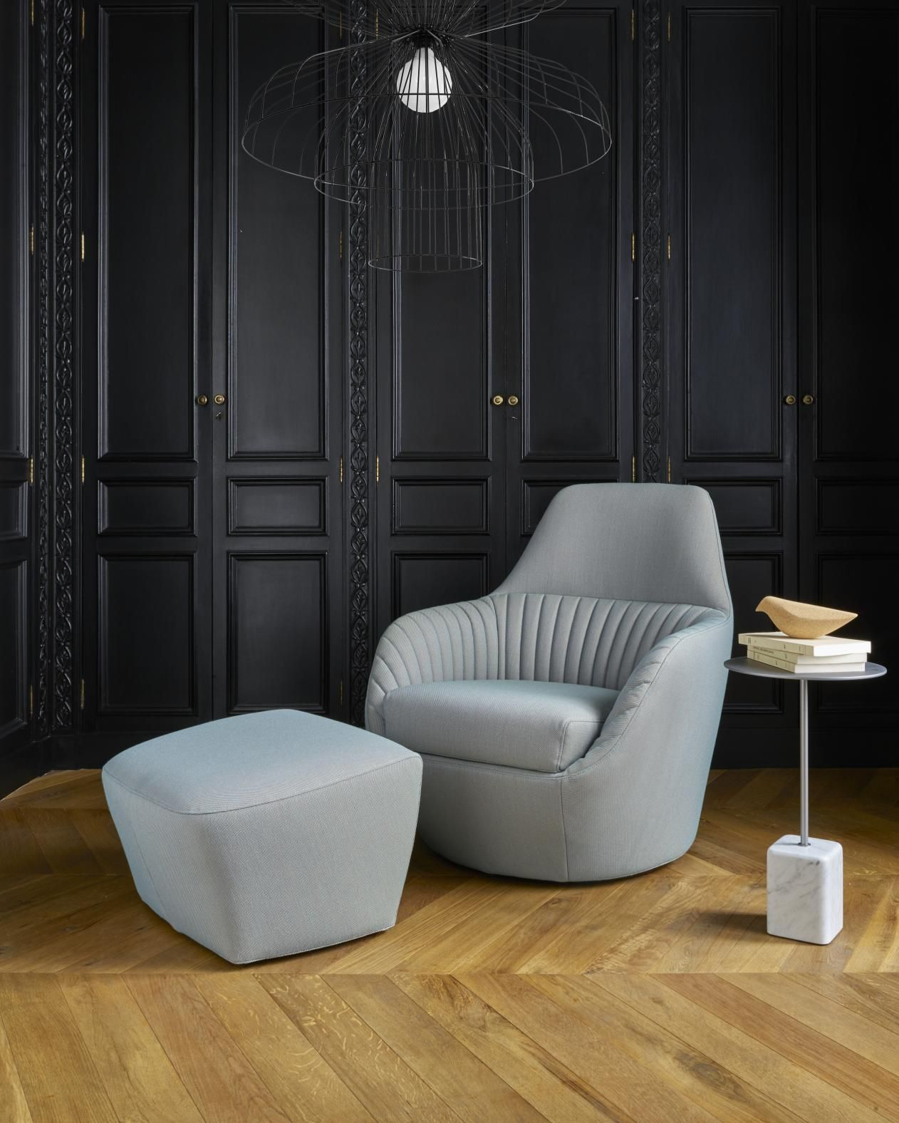 Amedee armchair & Kotori bird, by Marie Christine Dorner - Newsletter of September 2017