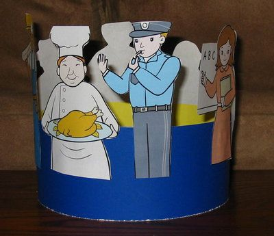 Community helpers hat craft for labor day jobs for Crafts for labor day