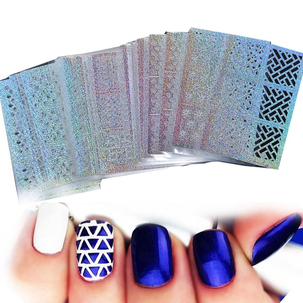 Sheets of Hollow Stencil Nail Stickers YayRush Accessories