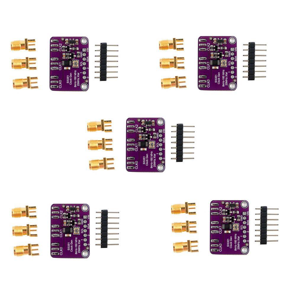 5Pcs SI5351 Signal Generator Module I2C Clock Sensor
