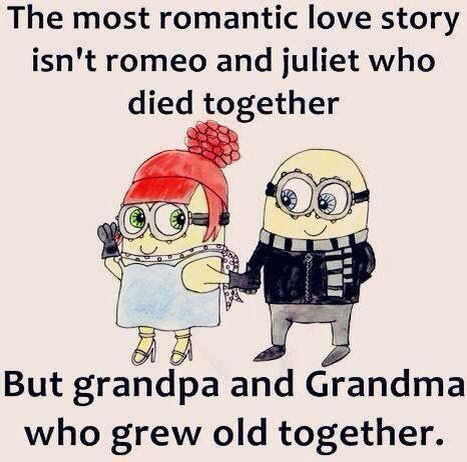 Grow Old Together Minions Romantic Love Stories Quotes Minions