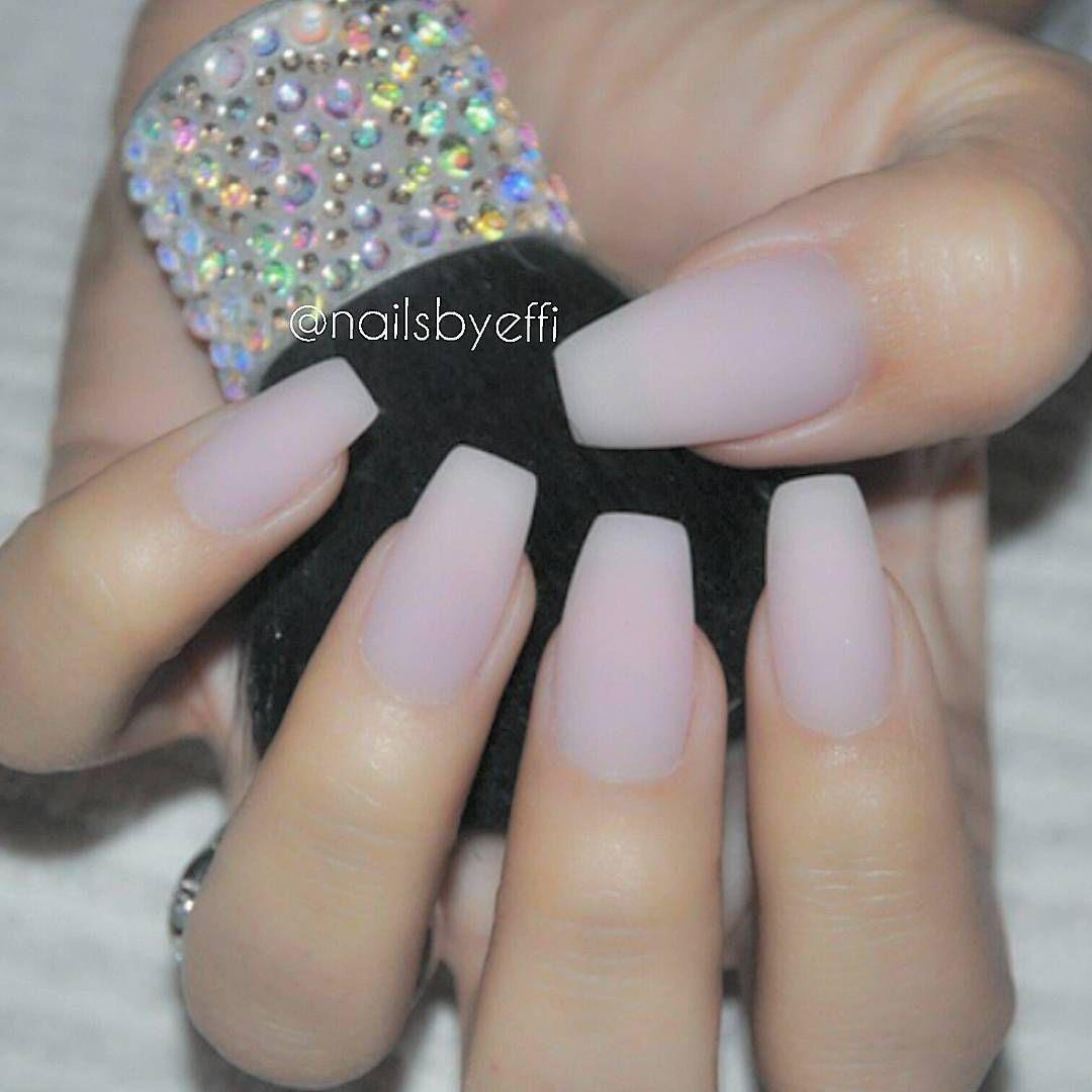 Nails inc gel nail colors and gel nail polish on pinterest - Matte Coffin Natural Looking Nails