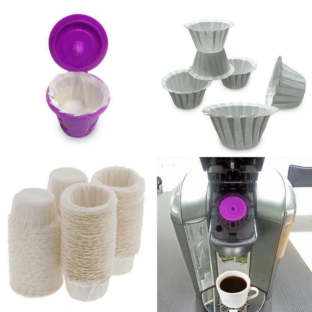 100pcs Paper Filters Cups Replacement K-Cup Filters Home Kitchen Coffee Filters