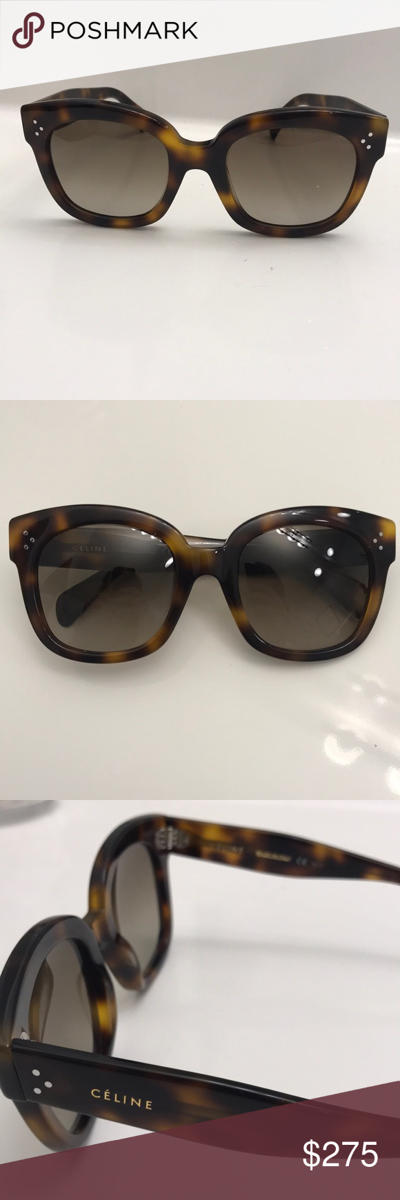 2c31b0087dd2 Authentic new Céline Audrey sunglasses Tortoise Audrey Céline sunglasses.  Great condition. Comes with cleaning