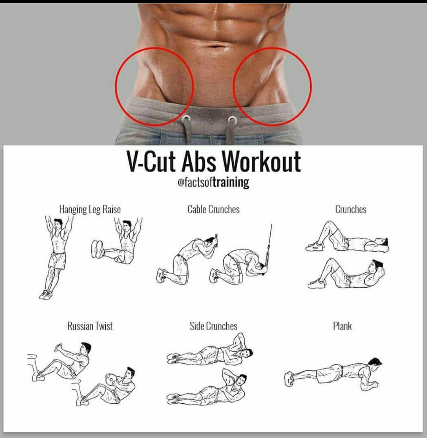 V Cut Abs Workout