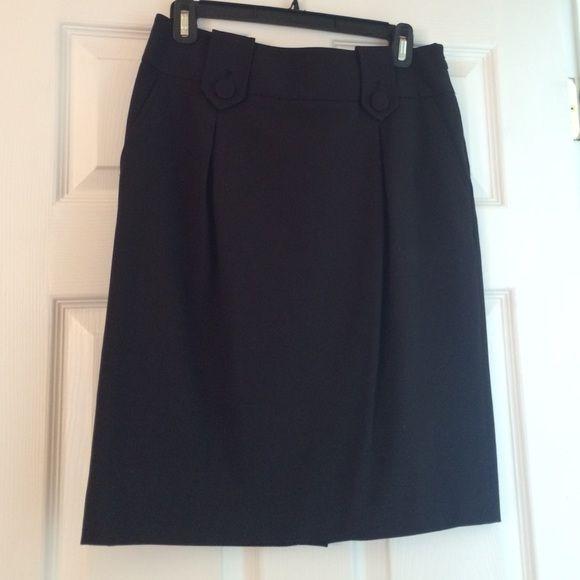 Style & Co black knee length skirt Pockets/ slit up back. Worn once. Adorable Style & Co Skirts