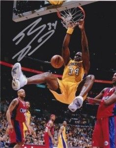 American basketball player Signed Autographed Photo Shaquille O/'Neal