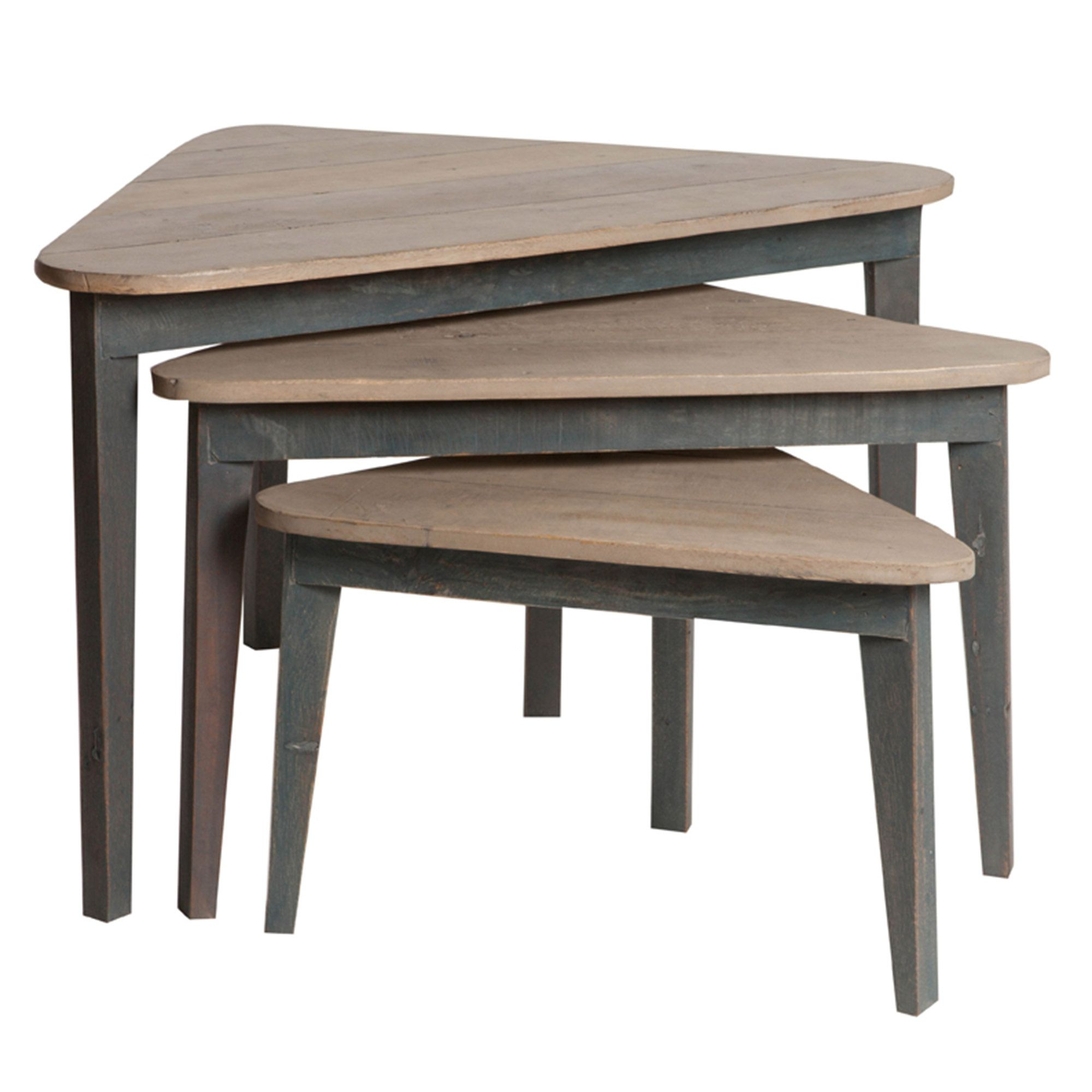 Tables gigognes triangulaires en bois sark port offert salon en 2019 tables gigognes - Table de salon gigogne ...