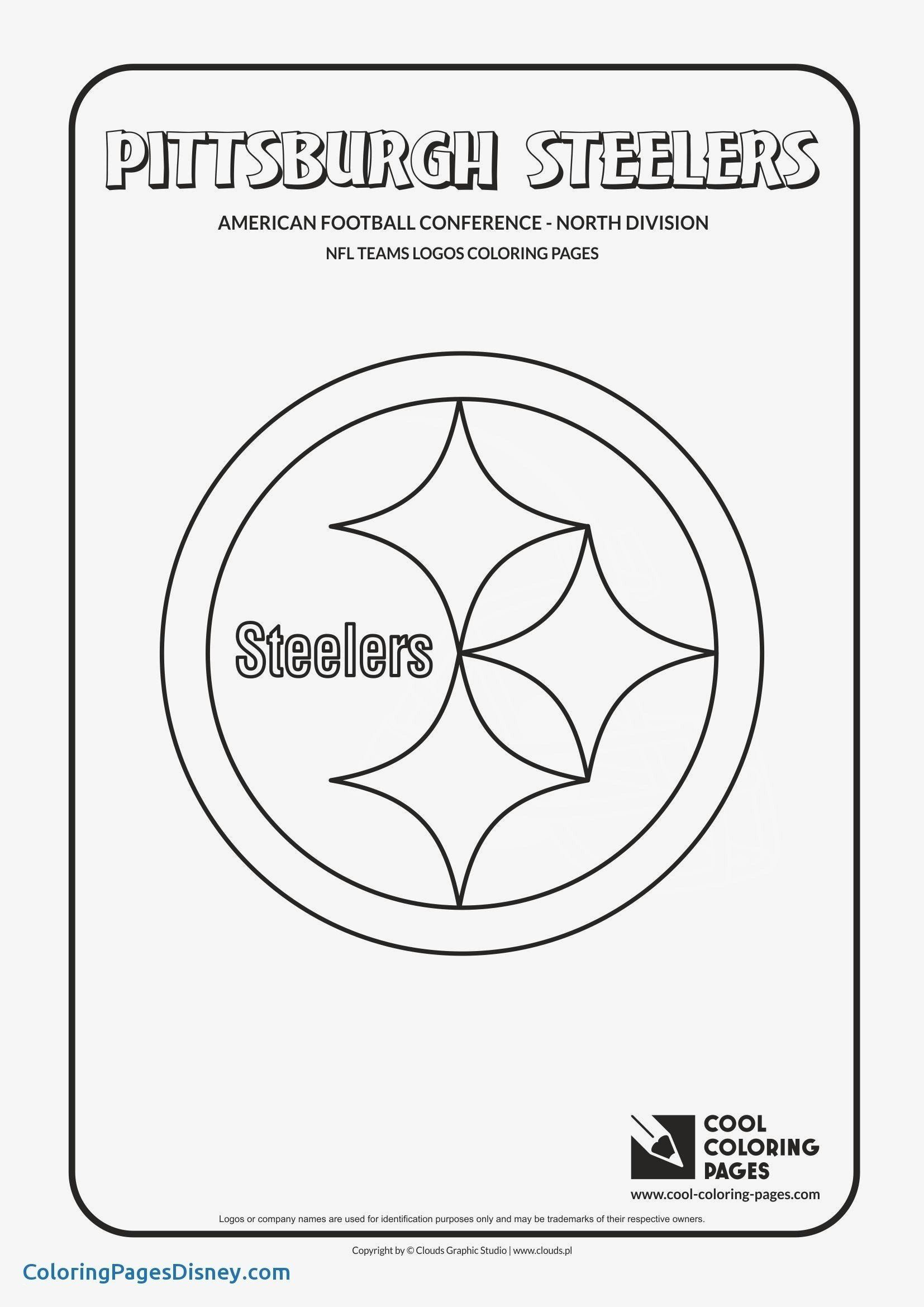 Coloring Pages Football Player Elegant New Nfl Logo Coloring