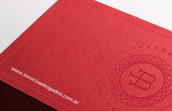 Benicio lawyers red letterpress business cards great design for benicio lawyers red letterpress business cards great design for attorney or law firm reheart Gallery