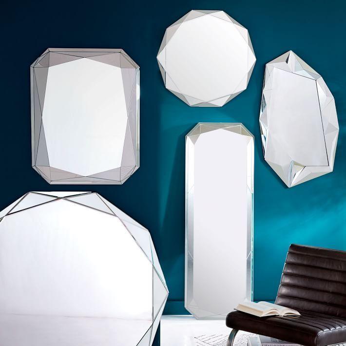 Faceted Asymmetrical Wall Mirror Bathrooms Pinterest Interior