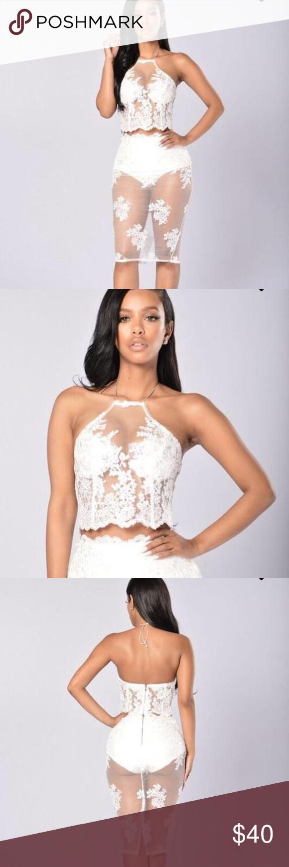 2 Piece Set Beautiful White Lace 2 Piece Set Perfect For A Special Occasion Fashion Nova Other Fashion Clothes Design Fashion Design [ 1740 x 580 Pixel ]
