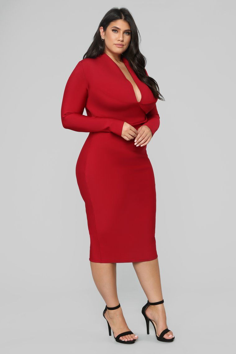 Lips Like Sugar Bandage Dress - Red in 2019 | Plus size red ...