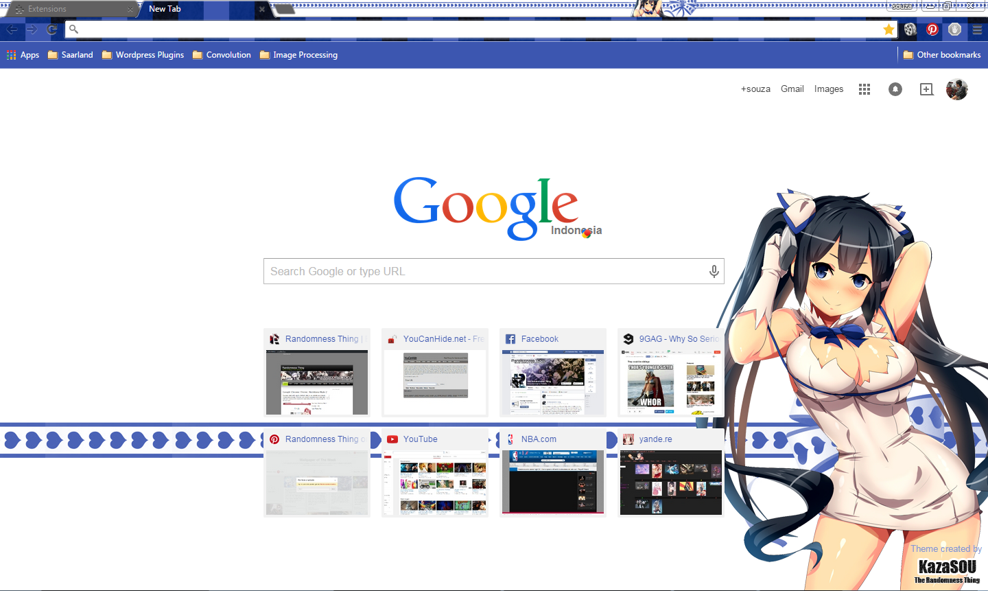 Google themes over the years - We Got Another Hestia Google Chrome Theme Today And This Dungeon Ni Deai Wo Motomeru No