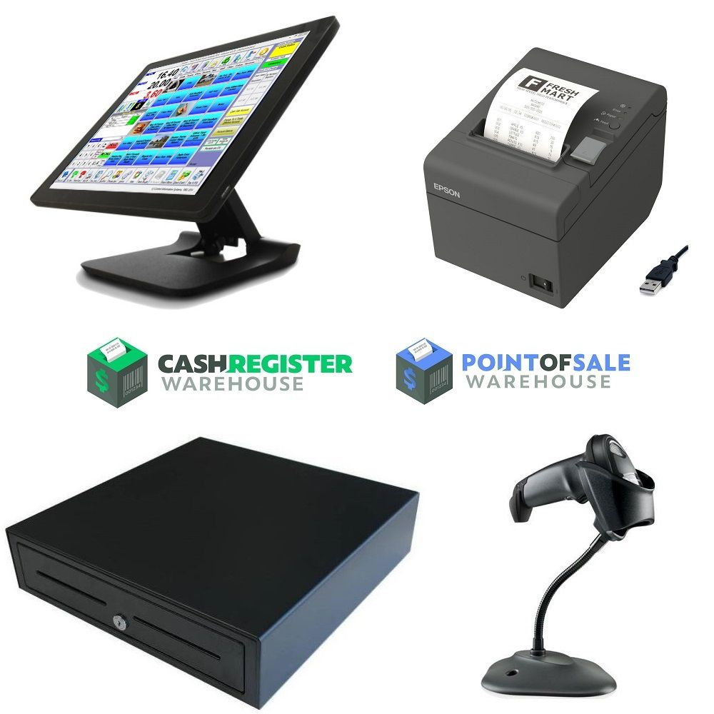 15 Inch Point Of Sale Tft Lcd Touch Screen Pos Cash Register With Card Reader Restaurant Pos System For Retail An Computer Computer Peripherals Computer System