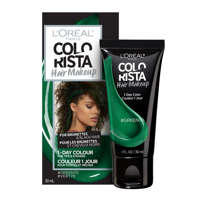 L Oreal Paris Colorista Hair Makeup Temporary Hair Colour Green10