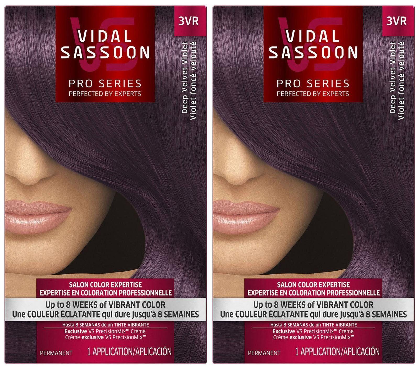 Vidal Sassoon Pro Series Hair Color Deep Velvet Violet 3vr 2